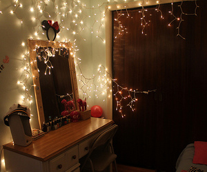 beautiful, lights, and bedroom image