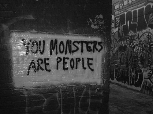 monster, people, and quote image