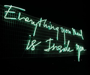 ligths, neon, and quote image
