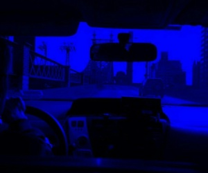 blue and car image