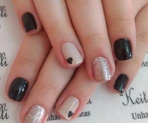 black, moda, and nail art image