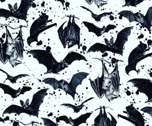pattern, bats, and Halloween image