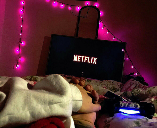 netflix, couple, and goals image