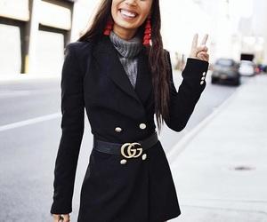 black coat, fashion, and funny image