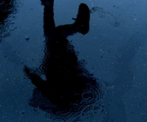 rain, grunge, and blue image