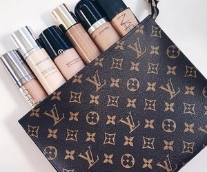 makeup, beauty, and Louis Vuitton image