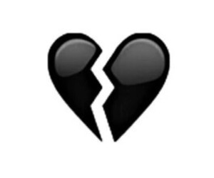 black, broke, and heart image