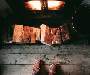 autumn, fire, and the atmosphere of autumn image