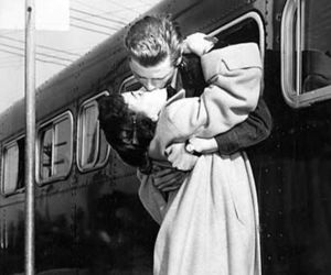 love, kiss, and vintage image