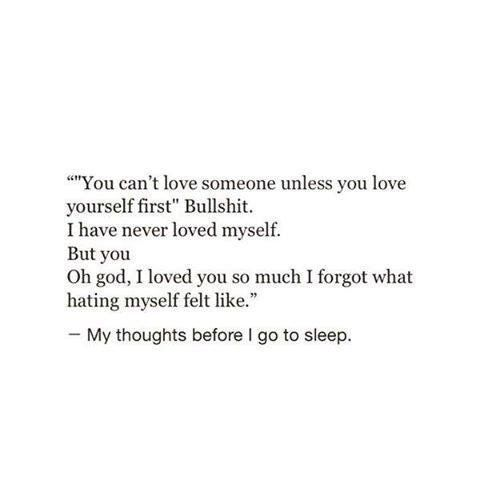 I love I, even if i hate myself on We Heart It