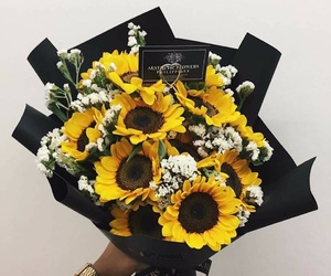 flores, flowers, and girasol image
