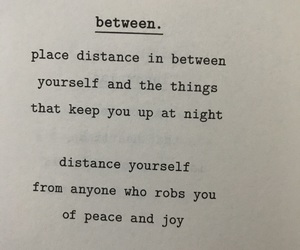 between, care, and distance image