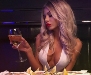 babe, drink, and blonde image