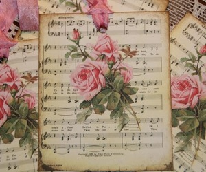 music, music sheets, and romantic image