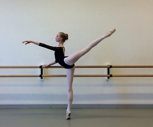 arabesque, ballet, and dance hall image