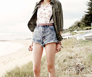 acid wash, beach, and model image