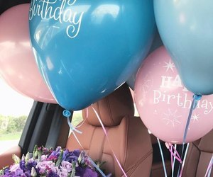 balloons, beautiful, and roses image