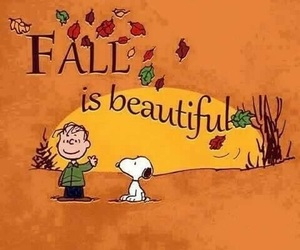 snoopy, autumn, and fall image