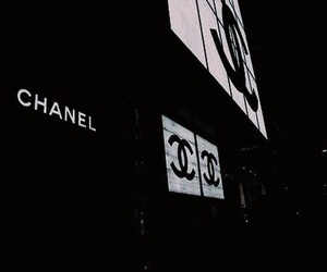 chanel, dark, and theme image