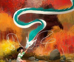 spirited away, anime, and dragon image
