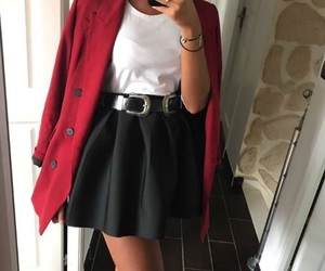 clothes, outfit, and red image