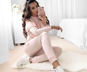 clothes, nails, and outfit image