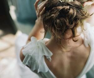 hair, princess, and dress image