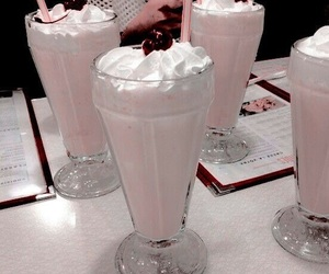 milkshake, cherry, and food image