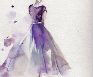 art, dress, and purple image