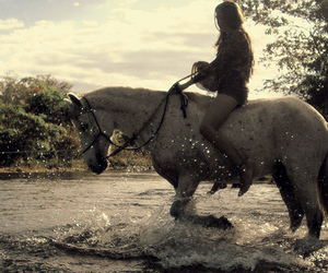 girl, horse, and water image