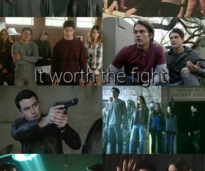 fight, teen wolf, and scott mccall image