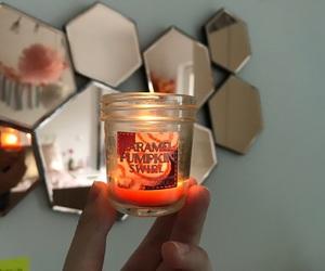 autumn, candle, and caramel image