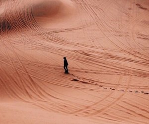 desert, alone, and sand image