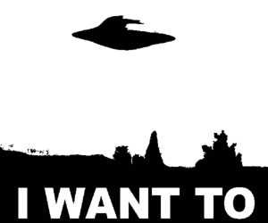 aliens, conspiracy, and I want to believe image