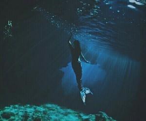 mermaid, ocean, and sea image