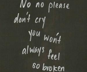 broken, sad, and cry image