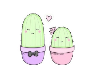 cute, cactus, and pastel image