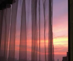 sky, window, and pink image