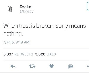 quotes, Drake, and trust image