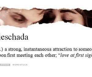 definition, dictionary, and love at first sight image