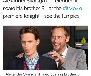 alexander skarsgard, brothers, and clown image