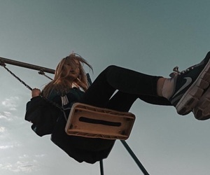 girl, grunge, and swing image