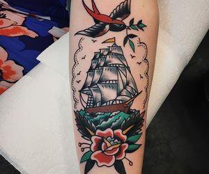 ship tattoo and boat tattoo image