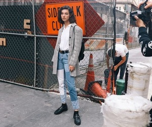 fashion, model, and model street style image