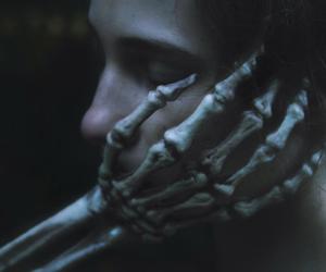 skeleton, dark, and hand image