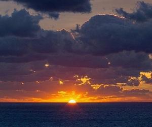 photography, sea, and sun image