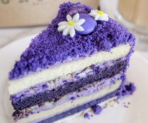 cake, cream, and purple image
