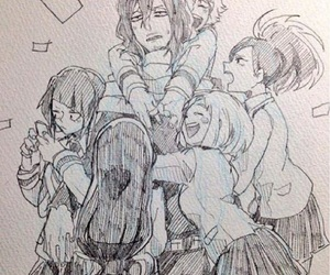 manga, cute, and sketch image