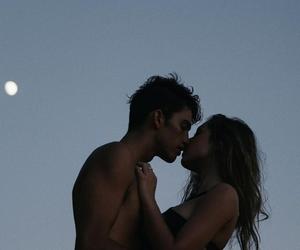 kiss, cute, and moon image