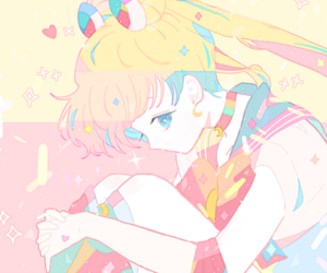 anime, pastel, and pretty image